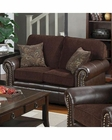Coaster Chenille Fabric/ Vinyl Love Seat Florence CO-504042