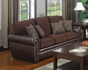 Coaster Chenille Fabric/ Vinyl Sofa Florence CO-504041