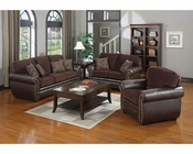 Coaster Chenille Fabric/ Vinyl Sofa Set Florence CO-504041Set