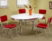 Coaster Chrome Plated Dining Set Cleveland CO-2065Set