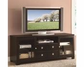 Coaster Contemporary Dark Mahogany TV Console CO-702281