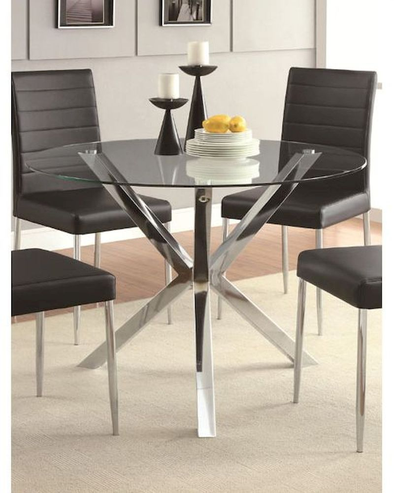 coaster contemporary dining table vance co 120760