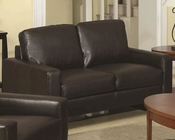Coaster Contemporary Leather Love Seat Ava CO-504482