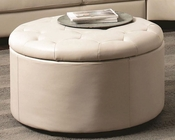 Coaster Contemporary Leather Ottoman Landen CO-5031-OT