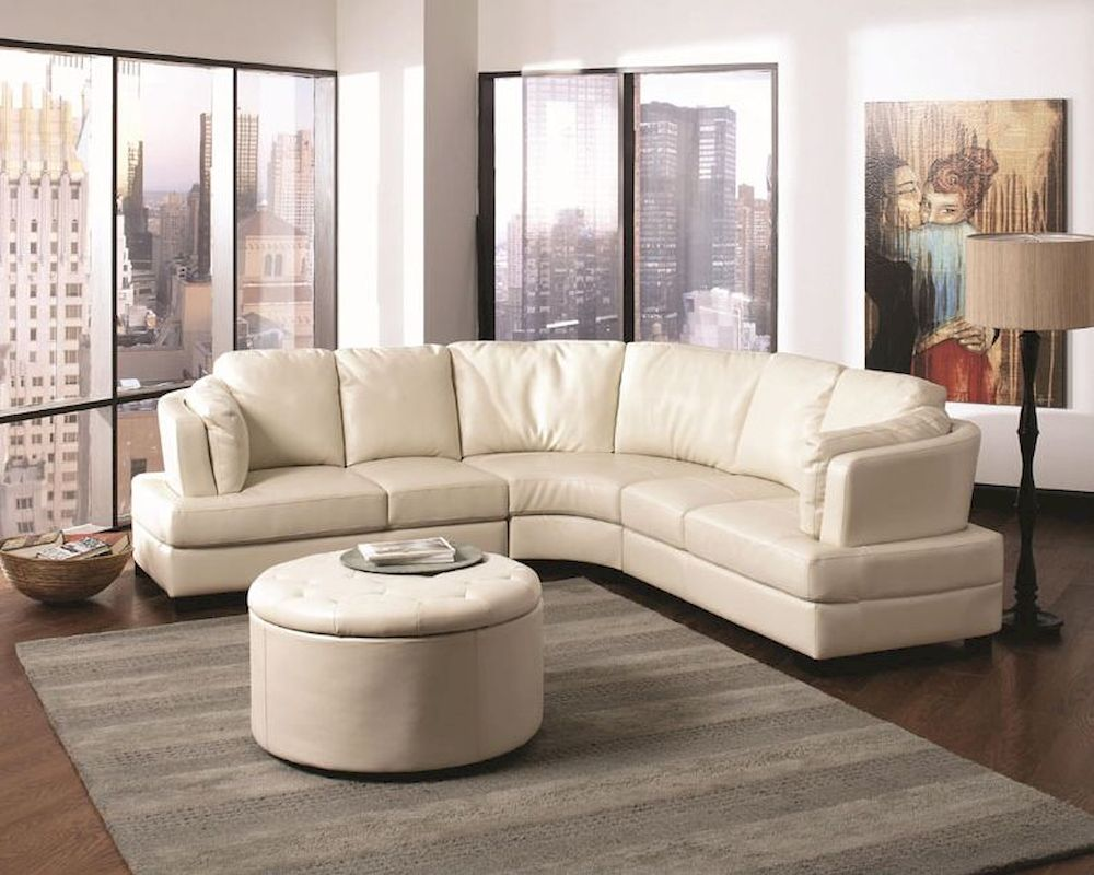 Wondrous Coaster Contemporary Leather Sectional Sofa Landen Co 5031 Ss Machost Co Dining Chair Design Ideas Machostcouk