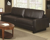 Coaster Contemporary Leather Sofa Ava CO-504481