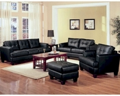 Coaster Contemporary Leather Sofa Set Samuel CO-5016Set-LSS