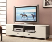 Coaster Contemporary TV Console w/ Chrome Hardware CO-700910