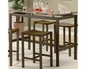 Coaster Counter Height Set Atlus in Warm Brown CO-150096Set