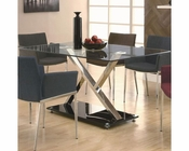 Coaster Dining 120 XY Dining Table w/ Chrome Base CO-102320