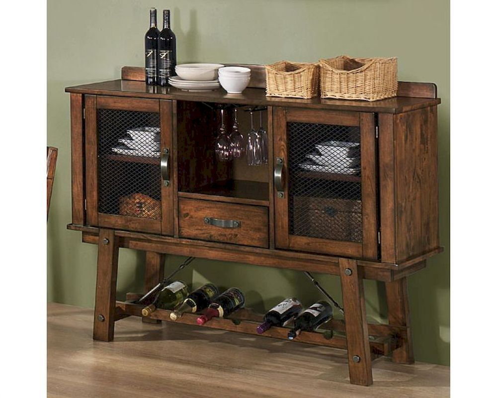 Coaster Dining Server W Wine Rack Lawson Co 103995