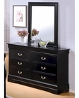 Coaster Louis Philippe Dresser w/ Mirror in Black CO-201073-74