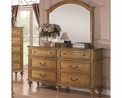 Coaster Emily Dresser w/ Mirror in Light Oak CO-202573-74