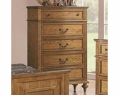 Coaster Emily Five Drawer Chest in Light Oak CO-202575