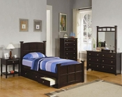 Coaster Furniture Bedroom Set in Cappuccino Jasper CO400751Set