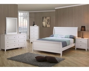 Coaster Furniture Bedroom Set in White Selena CO400231Set