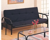 Coaster Furniture Casual Metal Futon Frame in Black CO2334