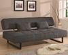 Coaster Furniture Contemporary Armless Sofa Bed in Grey CO300137