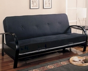 Coaster Furniture Contemporary Metal Futon Frame in Black CO300159