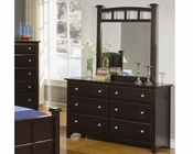 Coaster Furniture Dresser with Mirror in Cappuccino Jasper CO400753-4