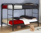 Coaster Furniture Full over Full Bunk Bed in Black Fordham CO460056K