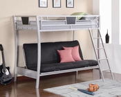 Coaster Furniture Futon Bunk Bed in Silver Bunks CO460024