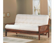 Coaster Furniture Futon Frame with Slat Side Detail in Oak CO4382