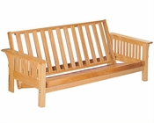 Coaster Furniture Futon Frame with Slat Side Details in Natural CO4838