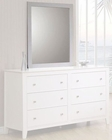 Coaster Furniture Mirror in White Selena CO400234