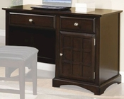 Coaster Furniture Single Pedestal Desk in Cappuccino Jasper CO400757