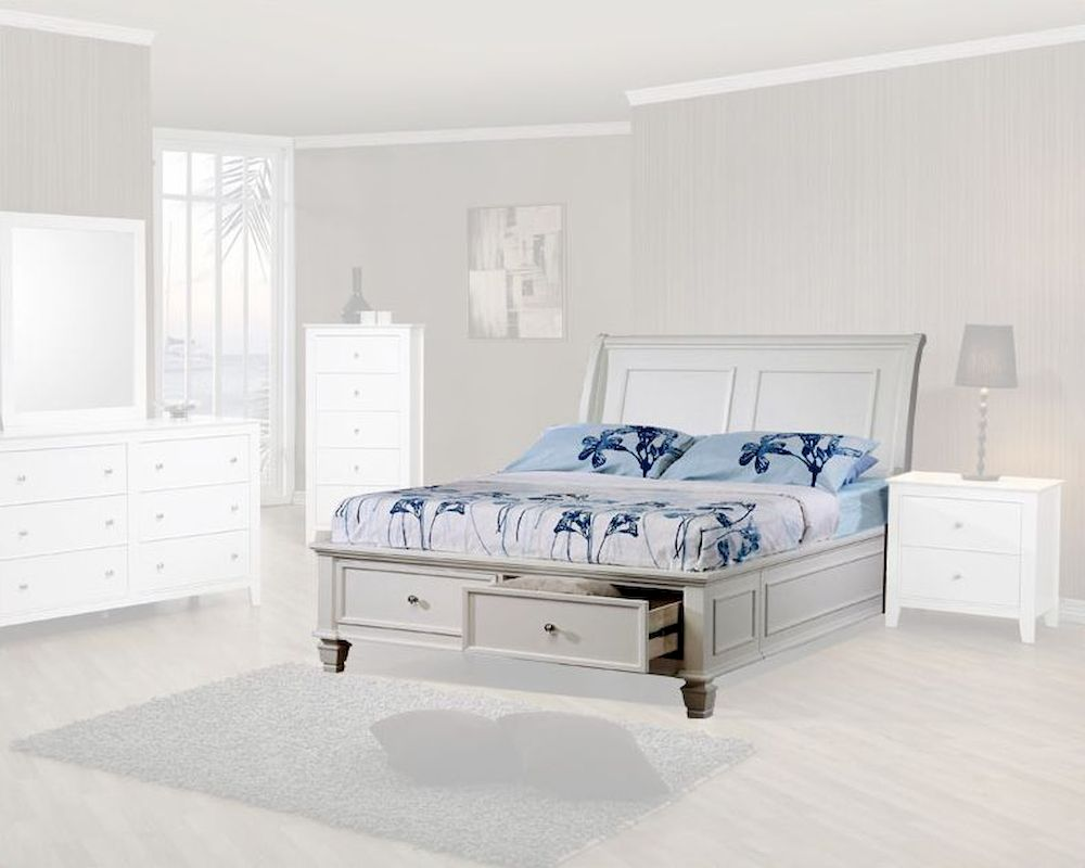 Coaster Furniture Sleigh Bed with Storage Sandy Beach CO400239
