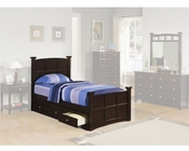 Coaster Furniture Storage Bed in Cappuccino Jasper CO400751-460137