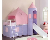 Coaster Furniture Twin Loft Bed in Pink and Purple Bunks CO460279