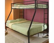 Coaster Furniture Twin over Full Bunk Bed in Black Denley CO460062B