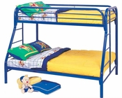 Coaster Twin over Full Bunk Bed Fordham in Blue CO-2258B