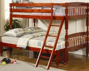 Coaster Furniture Twin over Full Bunk Bed in Cherry Coral CO460222