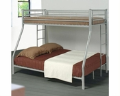 Coaster Furniture Twin over Full Bunk Bed in Silver Denley CO460062