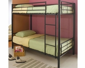 Coaster Furniture Twin over Twin Bunk Bed in Black Denley CO460072B