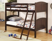 Coaster Furniture Twin over Twin Bunk Bed in Cappuccino Bunks CO460213