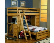 Coaster Furniture Twin over Twin Loft Bed Wrangle Hill CO460141