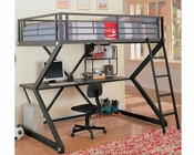 Coaster Furniture Workstation Full Loft Bed in Black Bunks CO460092