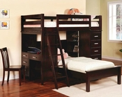 Coaster Furniture Workstation Twin Bunk Bed Fordham CO460123