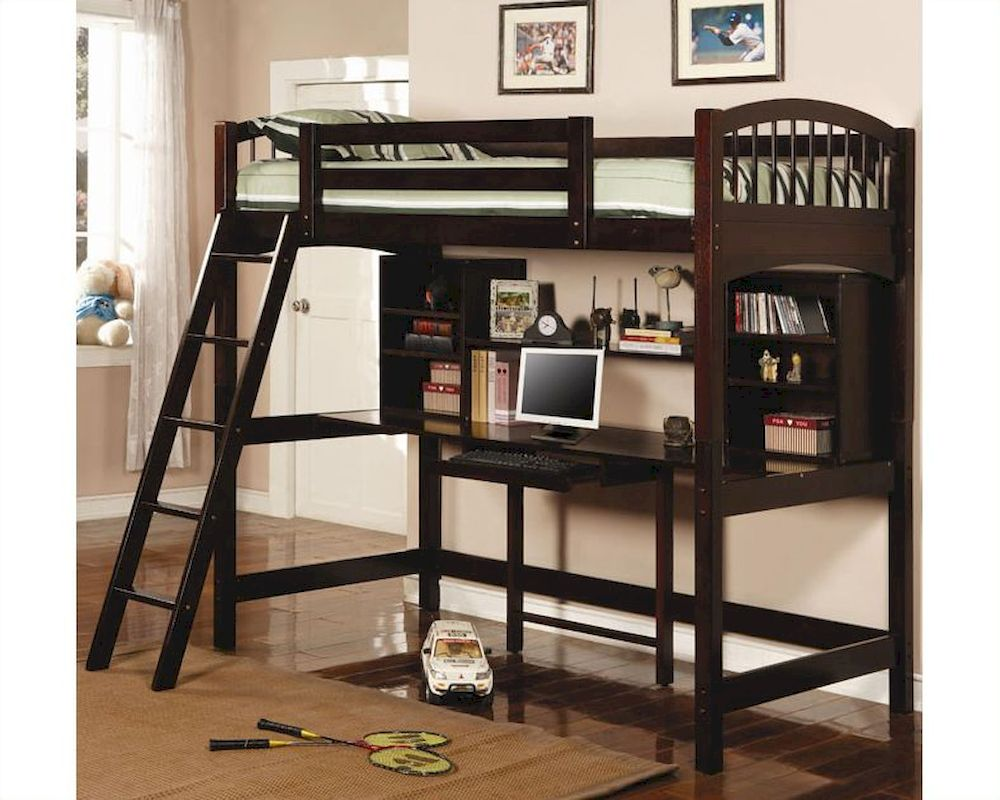 df0e3b3561bd7 Coaster Furniture Workstation with Twin Loft Bed Bunks CO460063