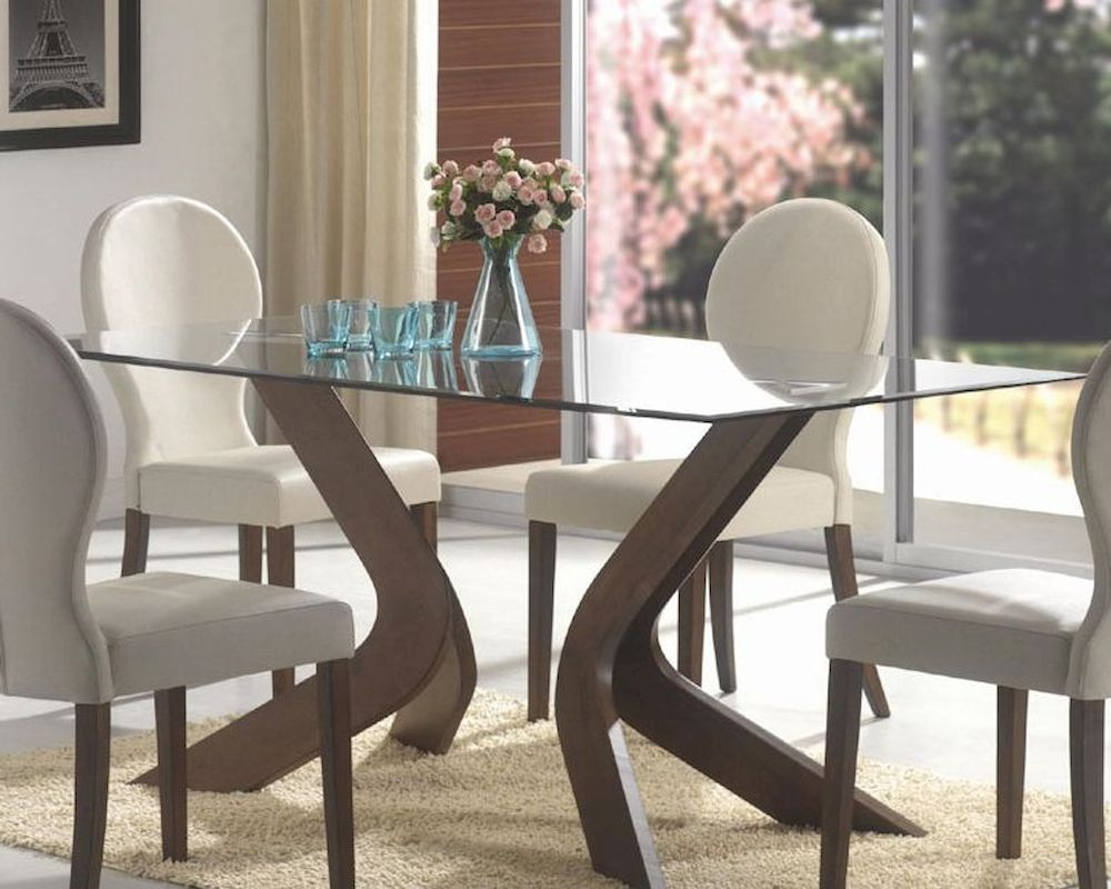 Coaster glass top rectangular dining table san vicente co for Glass top dining table next