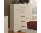 Coaster Jessica Five Drawer Chest in White CO-202995