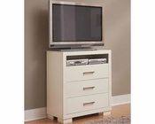 Coaster Jessica Media Chest in White CO-202996