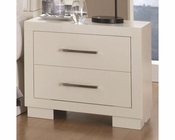 Coaster Jessica Nightstand in White CO-202992