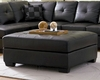 Coaster Leather Cocktail Ottoman w/ Wood Feet Darie CO-5006-OT