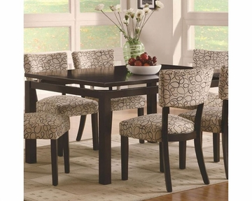 Coaster Libby Rectangular Dining Table W Floating Top Co