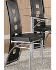 Coaster Los Feliz Black Metal Dining Chair CO-101682 (Set of 2)